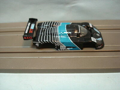 Tomy Afx Body Only Sauber Merecedes C-9 #61 Black With Clear Windshield Detailed