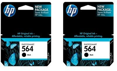 2pack HP 564 Black Ink Cartridges NEW GENUINE