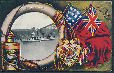 1907 Warwick Patriotic - S.S. Maid of the Mist, Used at Niagara Falls