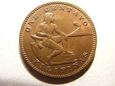 Philippines Centavo, 1930-M, 85% Full Red Uncirculated