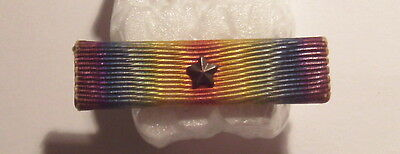 "VINTAGE WW I Victory Medal Pin Back 3/8"" Ribbon Bar with STAR"