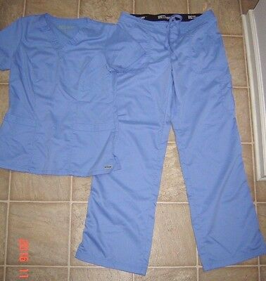 Women's Grey's Anatomy by Barco Blue Scrub Set Small Top and Medium Pants