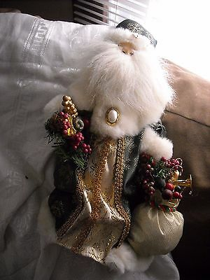 victorian Christmas inspire Santa claus tree topper Christmas decoration doll