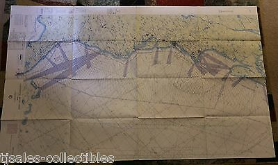 Cold War US Air Force Continental Entry Chart Air Map May 1968 Airplane Routes
