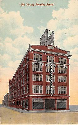 """Frohock Furniture Company Columbus Ohio 1912 Postcard """"Young Peoples Store"""""""