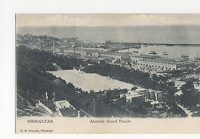 Gibraltar, Alameda Grand Parade Early UB Postcard, A795
