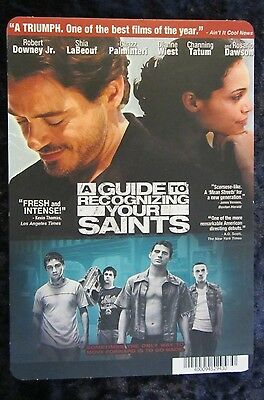 A GUIDE TO RECOGNIZING YOUR SAINTS movie backer card - this is NOT a movie
