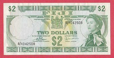 1974 Fiji 2 Dollar Note