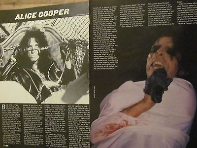 Alice Cooper, Two Page Vintage Clipping