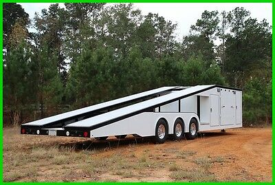 2017 ALUMINUM WIDE BODY CAR TOYHAULER TRAILER W/ ENCLOSED STORAGE SPACENew