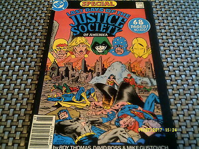 LAST DAYS of the JUSTICE SOCIETY of AMERICA#1 1986 Special 68 Pages No Ads FN VF