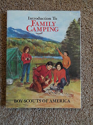 Scout Bsa Book 1984 Introduction To Family Camping Publication Printing Manual !
