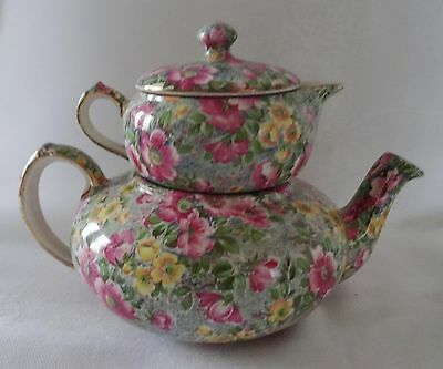 LORD NELSON vintage Chintz Stacking Teapot BRIAR ROSE
