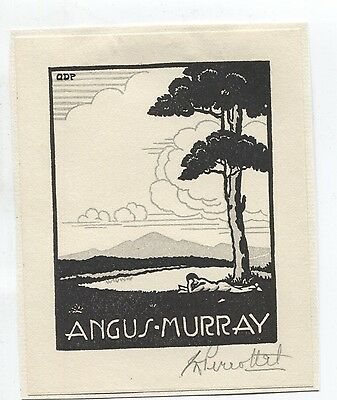 Ex libris by Perrottet for Murray  Pencil signed