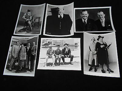Stan Laurel Oliver Hardy 6 Candid Gag and Publicity Portrait Photos Comedy