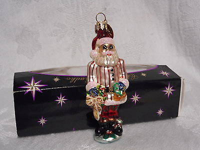 Christopher Radko Little Gems Collection Ornament Ring in the Holiday Santa MINT