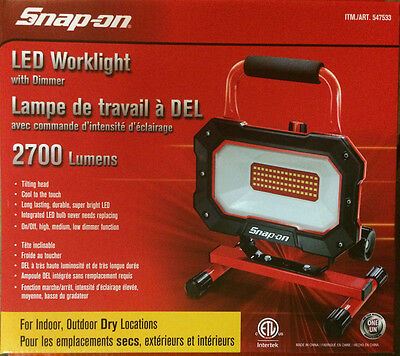 NEW Snap on LED worklight 2700 Lumens with Dimmer snap-on