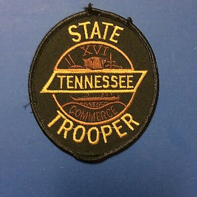 Tennessee State Trooper Patch   Black Patch    Used Rough