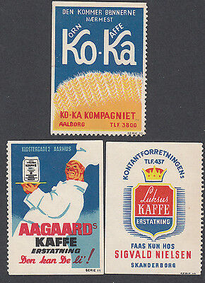 Denmark Poster Stamps  COFFEE RELATED