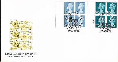 GB 2000 April booklet panes Machin FDC Windsor cancel