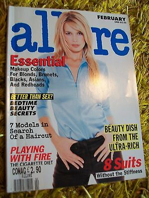 ALLURE 1996 magazine KIRSTY HUME (Schiffer cover) CAROLYN MURPHY pics USED COPY