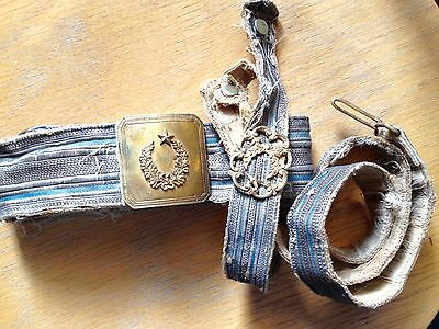 Ottoman Turkey Turkish Vintage Military Pacha Belt With Buckle  Used Condition