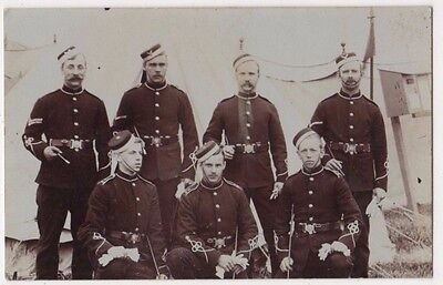 Military Soldiers Group Real Photo Postcard, B601