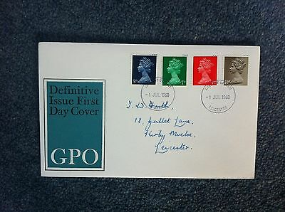 First Day Cover - Definitive Issue 1968