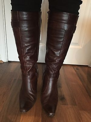 NEXT Knee High Wedge Heel Boots Wide Fit Size 7 41