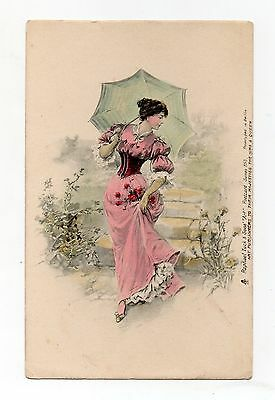 Old Postcard Glamour Beautiful Lady Early Tuck Undivided