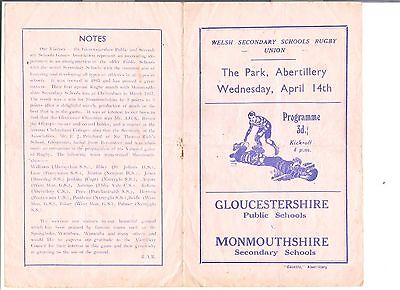 gloucestershire schools v monmouthshire schools rugby union programme