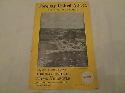 1956-57 FA CUP 2ND ROUND TORQUAY UNITED v PLYMOUTH ARGYLE