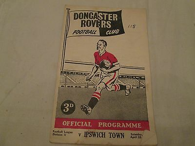 1957-58 DIV 2 DONCATER ROVERS v IPSWICH TOWN