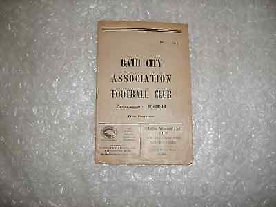 Bath City v All Star XI 28th September 1963 Charlie Fleming Testimonial