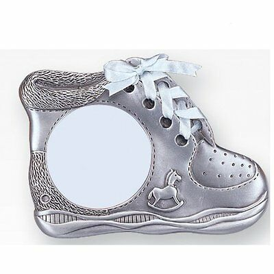 "3"" x 3"" Baby Boy Shoe Pewter Picture Frame"