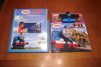 NEW THOMAS & FRIENDS 3D Movie Theater Projector W/ Book 24 Images~FREE STICKERS