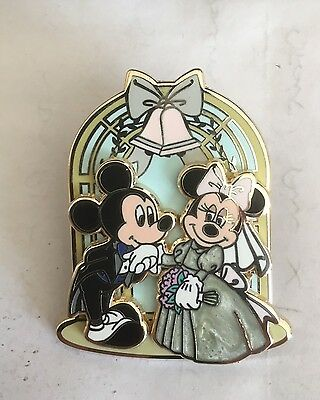 Disney Mickey Mouse & Minnie Mouse Wedding Pin On Pin