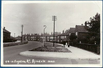RP Postcard - Fryston Road, Airedale, Castleford, West Yorkshire
