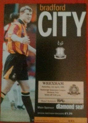 BRADFORD CITY v WREXHAM.  1/4/1995