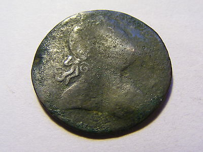 very old Half Penny Coin - very worn Condition  - 28mm Dia