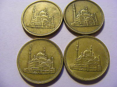 4 x Middle East Looking Coins - 22mm Dia - Good Condition