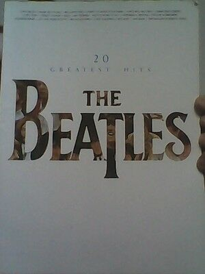 SHEET MUSIC  book -  THE  BEATLES  GREATEST HITS