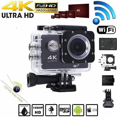 4K HD 1080P Wifi Sports Action Camera Waterproof Camcorder DV 16MP Video Camera