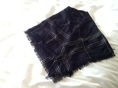 Ladies black and Gold scarf.