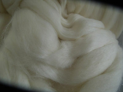 Perendale White Wool Tops. 500g. Felting, Spinning. Combined postage available
