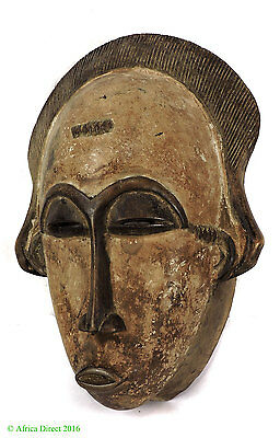 Baule Portrait Mask Ivory Coast African Art