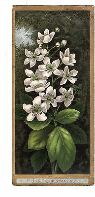 A Joyful Christmas To you White Flowers Vict Card c 1880s