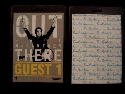 PAUL McCARTNEY Laminated Guest Pass  (The Beatles)