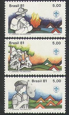 Brazil 1981 Scouts/Scouting/Camp/Fire/Jamboree/Leisure/Youth/People 3v (n36346)
