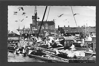 Fraserburgh Aberdeenshire - The Harbour & Fishing Boats RP p/u 1961